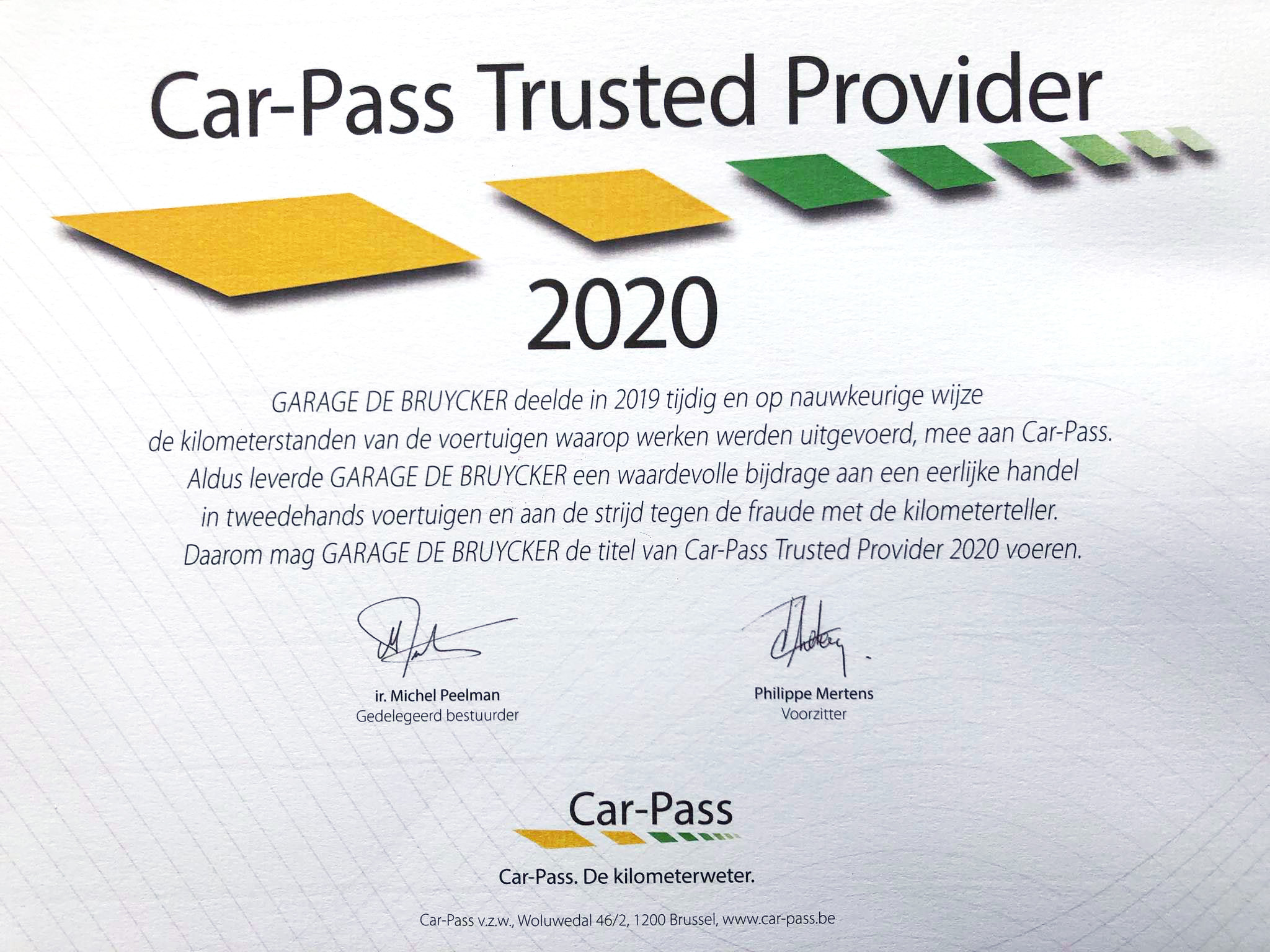 car passTrustedProvider